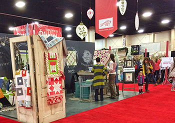 Stampin' Up! indoor tradeshow display.