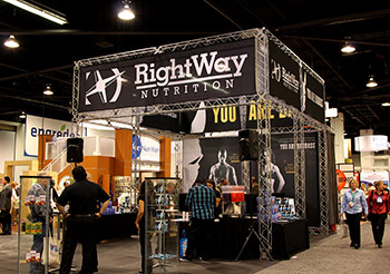 Right Way Nutrition indoor tradeshow display.