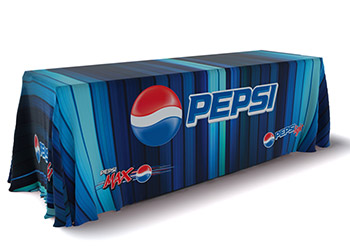 Printed table skirt for Pepsi