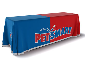 Printed table skirt for PetSmart