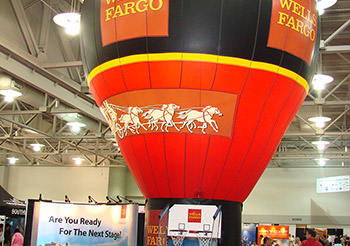 Wells Fargo indoor balloon tradeshow display